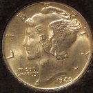 1940 Mercury Head Dime BU Split Bands #0583
