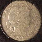 1907-O Barber Quarter G/AG #0654