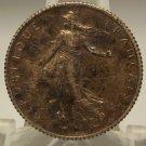 KM# 844.1 1918 Silver French Franc AU+ #0028