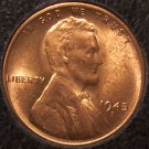 1945-S Lincoln Wheat Back Cent Gem BU #0739