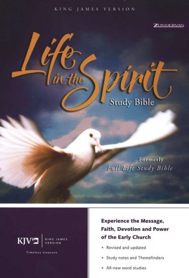 KJV Life in the Spirit Study Bible, Top Grain Leather, Black, Indexed