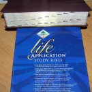 KJV Life Application Study Bible, Bonded leather, Burgundy