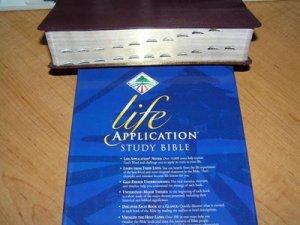 KJV Life Application Study Bible, Bonded leather, Burgundy