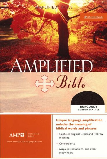The Amplified Bible, Expanded Edition, Bonded leather, Black, Thumb-indexed
