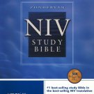 NIV Study Bible: Top-Grain Leather Navy, Indexed