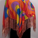 Lightweight Summer Poncho Orange