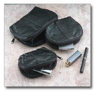 Genuine Leather 3 piece mini Travel Bag Set