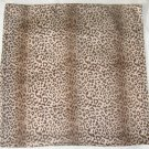 Italian Large Square Scarf - Cheetah Print