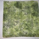 Italian Large Square Scarf - Floral green