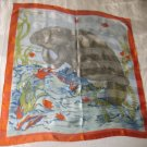 Large Italian Square Scarf - Sea Lions