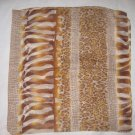 Large Italian Square Scarf - Golden Brown Prints