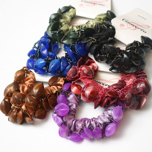 Hair Band - Ponytail Band with Beads