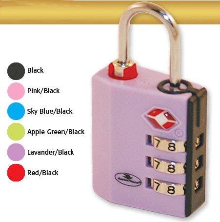 TSA Approved 3 Dial Combination Indicator Lock