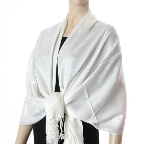 Pashmina Style (Ivory color) Shawl - 100% Viscose