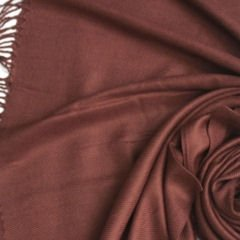Pashmina Style, 100% Viscose Shawl - Coffee Bean