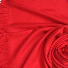Pashmina Style, 100% Viscose Shawl - Red
