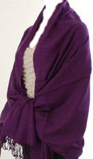 Pashmina Style, 100% Viscose Shawl - Deep Purple