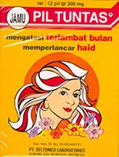 2 Boxes JAMU PIL TUNTAS (To helps shorten & eliminate menstrual cramps)