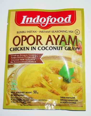 Indofood Opor Ayam (Chicken in Coconut Gravy) Seasoning Mix, Set Of 2 Sachets