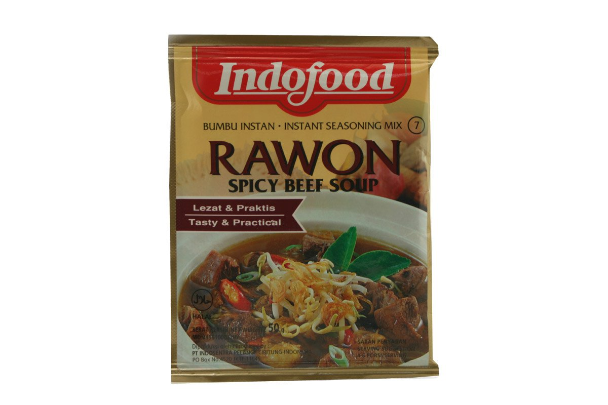 Indofood Rawon (Spicy Beef Soup) Seasoning Mix, Set Of 2 Sachets