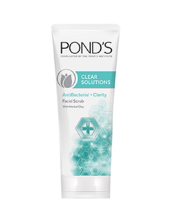 Pond's Clear Solutions Antibacterial Facial Scrub With Herbal Clay