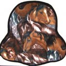 Saddle Cushion Brown Horse Images - Western Saddle Size