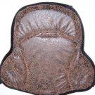 Saddle Cushion Brown Western Tooled Design - Western Saddle Size