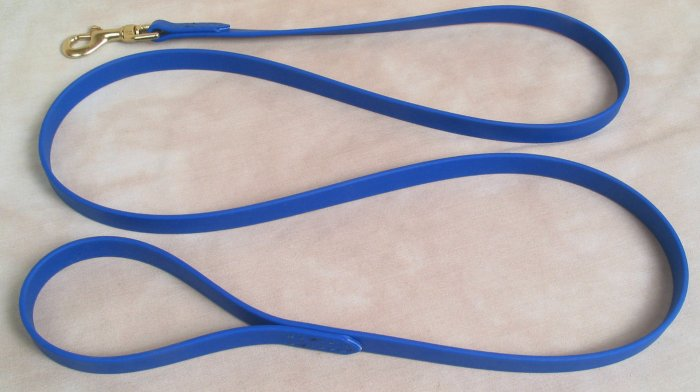 "6' Long 3/4"" Royal Blue Beta Biothane Dog Leash"