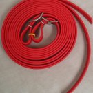 "Split Style Reins 5/8""  Heavy Weight Beta Biothane Red"