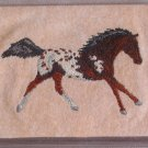 Felt Embroidered Appaloosa Horse Peach Vinyl Checkbook Cover