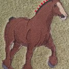 Embroidered Trotting Draft HORSE Sage Green Wash Hand Bath Towel Set
