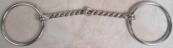 6 Inch Twisted Wire Jointed Draft/Mule Horse Bit
