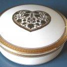 "Mikasa Gold Heart 5"" Jewelry Box"