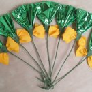 Rosettes Horse Mane Flowers - Green & Yellow