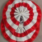 Two Color Draft Horse Tail Bow  - Red & White