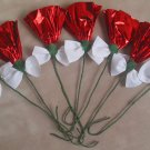 Rosettes Horse Mane Flowers - Red & White