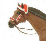 Christmas Two Ear Horse Santa Cap