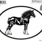 Shire Draft Horse Oval Decal
