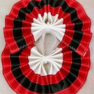 Two Color Draft Horse Tail Bow  - Red & Black