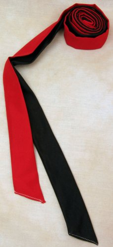 Two Color Draft Horse Mane Roll  - Red & Black