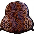 Saddle Cushion Faux Leopard Fur - Western Saddle Size