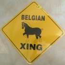 Belgian Draft Horse Xing Sign