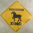 Percheron Draft Horse Xing Sign