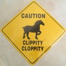Percheron Draft Horse Caution Sign