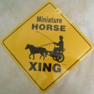 Miniature Horse and Cart Road Xing Sign