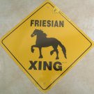 Friesian Horse Xing Sign