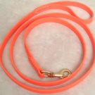 "6' Long 5/8"" Bright Orange Beta Biothane Dog Leash"