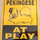 Pekingese Dog At Play Here Yard Sign