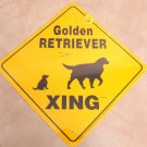 Golden Retriever Dog Xing Yard Sign