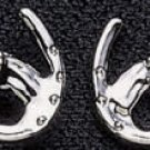 Exselle Horse Head and Horseshoe Earrings - Platinum
